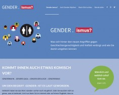 Webseite 'Gender.ismus'